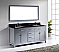 """72"""" Cabinet Only in Grey with Countertop, Faucet and Mirror Options"""