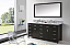 """72"""" Cabinet Only in Espresso with Countertop, Mirror and Faucet Options"""