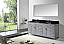 """72"""" Cabinet Only in Grey with Countertop, Mirror and Faucet Options"""