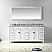 """72"""" Cabinet Only in White with Countertop, Mirror and Faucet Options"""