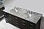 """78"""" Cabinet Only in Espresso with Countertop, Mirror and Faucet Options"""