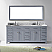 """78"""" Cabinet Only in Grey with Countertop, Mirror and Faucet Options"""