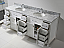 "78"" Cabinet Only in White with Countertop, Mirror and Faucet Options"