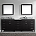 "93"" Double Bath Vanity in Espresso with Marble Top and Round Sink"
