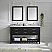 """60"""" Cabinet Only in Espresso with Top, Mirror and Faucet Options"""