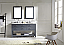 """60"""" Cabinet Only in Grey with Top, Mirror and Faucet Options"""