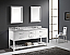 "72"" Cabinet Only in White Finish with Top, Mirror and Faucet Option"