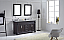 "60"" Cabinet Only in Espresso Finish with Top, Mirror and Faucet Option"