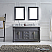 """60"""" Cabinet Only in Grey Finish with Top, Mirror and Faucet Option"""