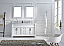 """60"""" Cabinet Only in White Finish with Top, Mirror and Faucet Option"""