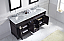"72"" Cabinet Only in Espresso Finish with Top, Faucet and Mirror Option"