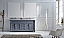 """72"""" Cabinet Only in Grey Finish with Top, Faucet and Mirror Option"""