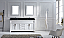 """72"""" Cabinet Only in White Finish with Top, Faucet and Mirror Option"""