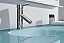 """63"""" Double Bath Vanity in White with Aqua Tempered Glass Top and Round Sink with Polished Chrome Faucet and Mirror"""