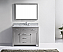"48"" Cabinet Only in Cashmere Grey with Top, Mirror and Faucet Options"