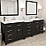 "93"" Double Bath Vanity in Espresso with Quartz Top and Square Sink with Mirrors"