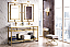 """James Martin Boston Collection 63"""" Stainless Steel Sink Console (Double Basins), Radiant Gold"""