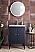 "James Martin Linden Collection 24"" Single Vanity Cabinet, Navy Blue"