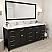 "78"" Double Bath Vanity in Espresso with Dazzle White Quartz Top and Square Sink with Mirror"