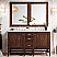 """James Marting Addison Collection 60"""" Double Vanity Cabinet, Mid Century Acacia"""