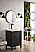 "James Martin Brittania Collection 24"" Single Vanity Cabinet, Black Onyx w/ White Glossy Resin Countertop"