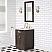 "24"" Brown Oak Single Bathroom Vanity with Seamless Italian Carrara White Marble Top"