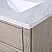 "30"" Gray Oak Single Bathroom Vanity with Seamless Italian Carrara White Marble Top"