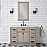 "48"" Gray Oak Single Bathroom Vanity with Seamless Italian Carrara White Marble Top"