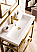 """James Martin Boston Collection 31.5"""" Stainless Steel Sink Console, Radiant Gold"""
