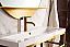 """James Martin Boston Collection 39.5"""" Stainless Steel Sink Console, Radiant Gold"""
