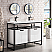 "James Martin Boston Collection 47"" Stainless Steel Sink Console (Double Basins), Matte Black"