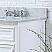"24"" Pure White Single Sink Bathroom Vanity with White Carrara Marble Top"