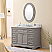 """48"""" Cashmere Grey Single Sink Bathroom Vanity with Carrara White Marble Top"""