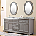 """72"""" Cashmere Grey Double Sink Bathroom Vanity with Carrara White Marble Top"""