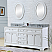 """72"""" Pure White Double Sink Bathroom Vanity with Carrara White Marble Top"""