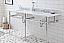 """72"""" Wide Double Wash Stand Only in Chrome Finish"""