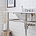 """72"""" Wide Double Wash Stand Only in Polished Nickel Finish"""