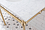 """72"""" Wide Double Wash Stand Only in Satin Gold Finish"""