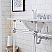 """30"""" Wide Double Wash Stand Only with Chrome Finish"""