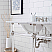 """60"""" Wide Double Wash Stand Only with Polished Nickel (PVD) Finish"""