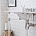 """72"""" Wide Double Wash Stand Only with Polished Nickel (PVD) Finish"""