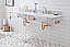 """72"""" Wide Double Wash Stand Only with Satin Gold Finish"""
