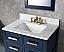 """30"""" Monarch Blue Single Sink Bathroom Vanity"""