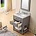 "24"" Cashmere Grey Single Sink Bathroom Vanity"