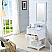 "24"" Pure White Single Sink Bathroom Vanity"