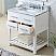 "30"" Pure White Single Sink Bathroom Vanity"