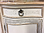 """60"""" Double Sink Vanity Mahogany Finish with Marble Top"""