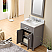 """24"""" Cashmere Grey Single Sink Bathroom Vanity with Carrara White Marble Top"""