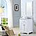"24"" Pure White Single Sink Bathroom Vanity with Carrara White Marble Top"