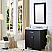 "30"" Espresso Single Sink Bathroom Vanity with White Carrara Marble Top"